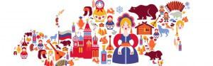 Regionale Russische Symbole